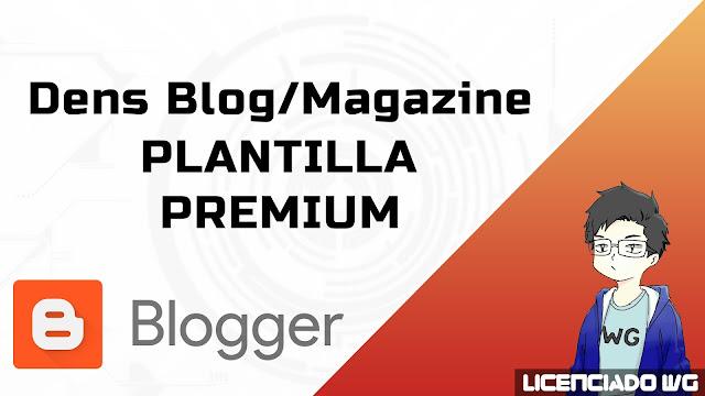Dens Blog/Magazine Responsive Blogger Premium Gratis