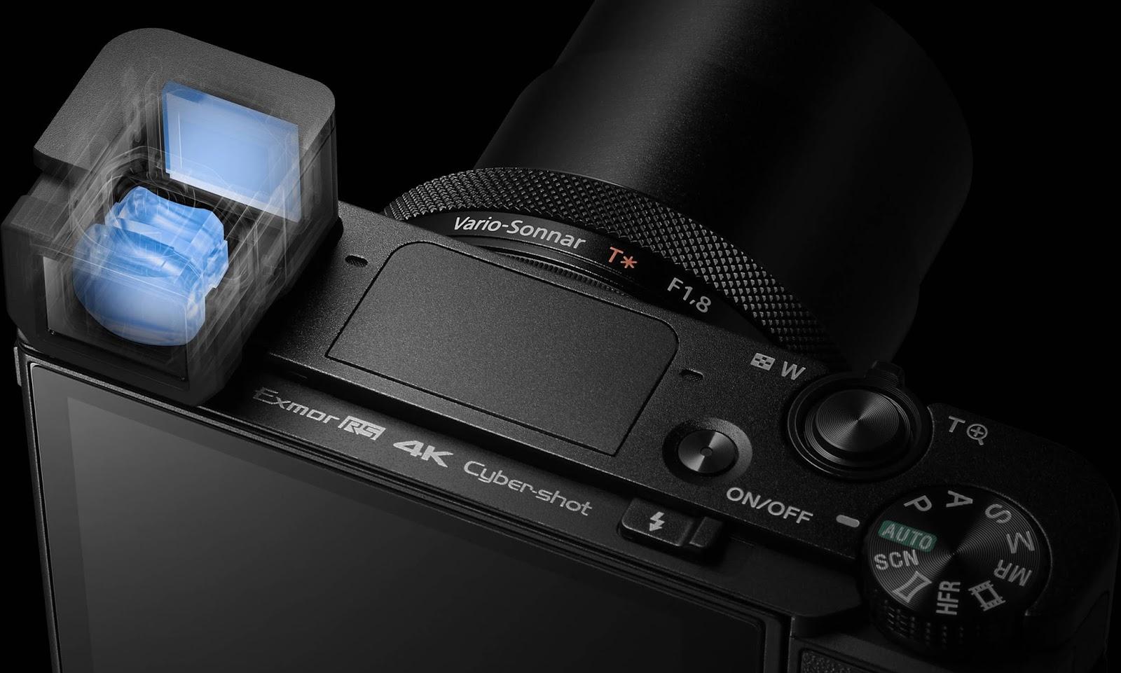 Sony RX100 V, вид сверху
