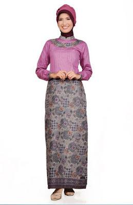 Contoh Model Baju Batik Kantor Setelan Rok