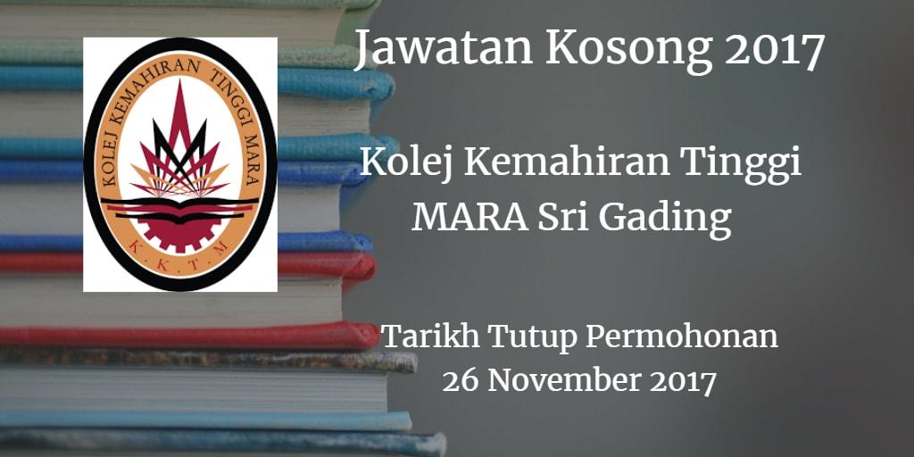 Jawatan Kosong KKTM Sri Gading 26 November 2017