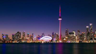 City, Night, Toronto, Canada, Buildings, Architecture