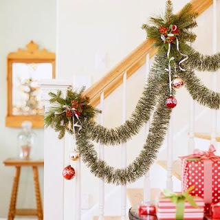 escalera navideña
