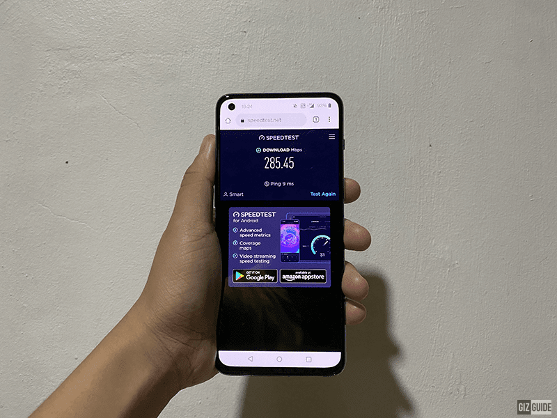 OnePlus Nord 2 5G speed test result