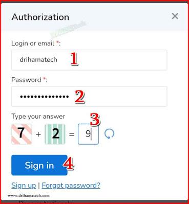الدخول الى حسابك في موقع alexchanger