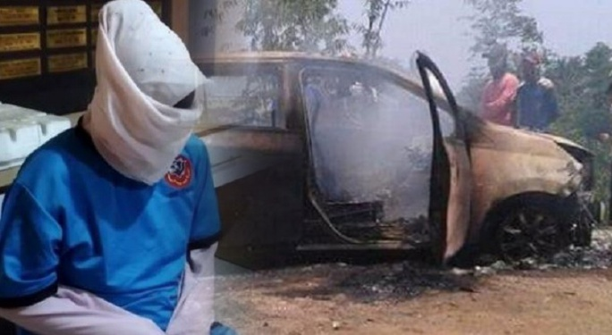 Ingin Kuasai Harta,Istri Muda di Sukabumi Sewa Pembunuh Bayaran Habisi Nyawa Suami dan Anak Tiri Lalu membakarnya di Dalam Mobil