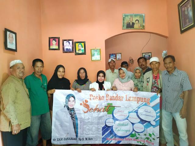 dr.Zam Zanariah,Sp.S.M.Kes, Terus mendapatkan dukungan masyarakat Kecamatan Teluk Betung Barat