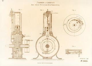 www.fertilmente.com.br - Projeto original do motor de ciclo horario de Daimler-Maybach