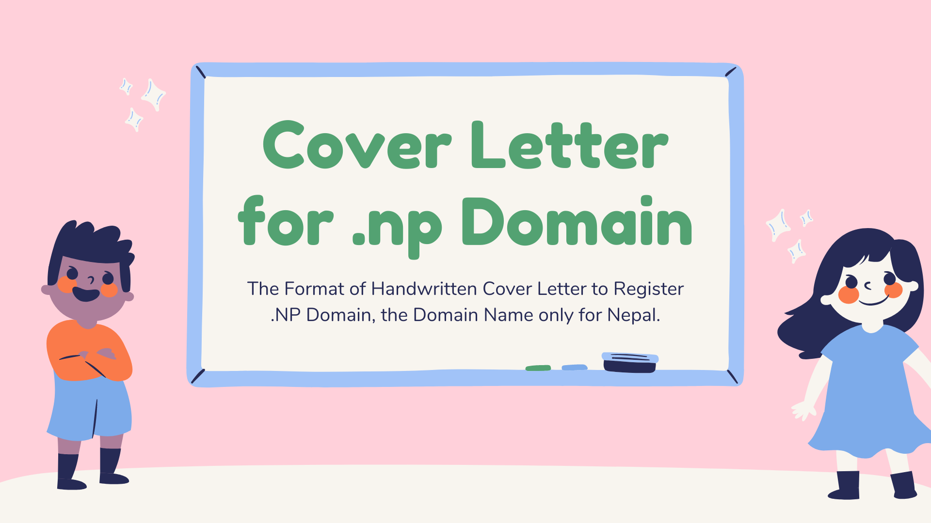 Hand Written Cover Letter for .com.np, .net.np, .org.np domain name for Nepal