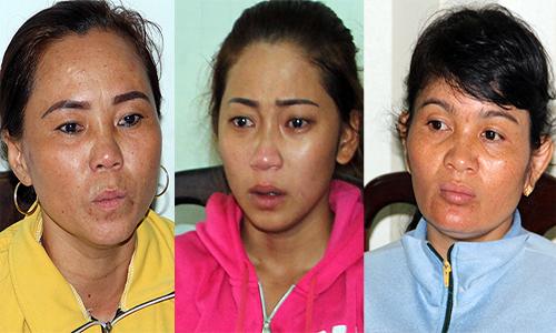 Hai mẹ con Oanh và Hương bị bắt. Ảnh: Hồng Tuyết.