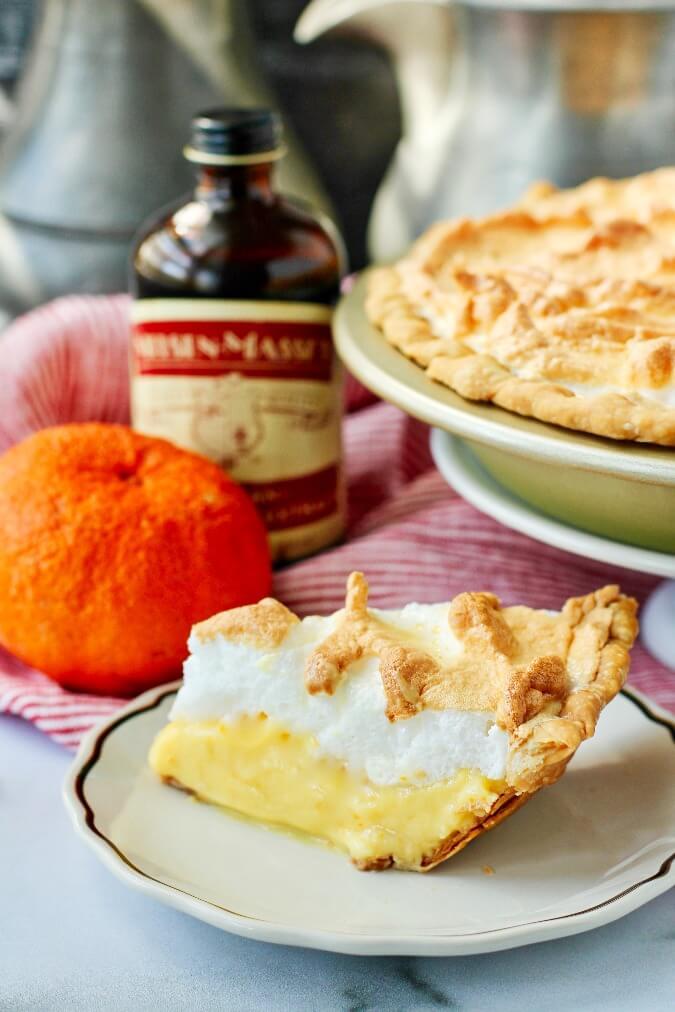 Creamsicle Meringue Pie with mandarin oranges