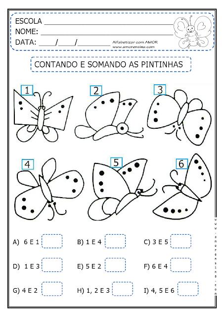 Atividades de Matemática para imprimir - 1º ano