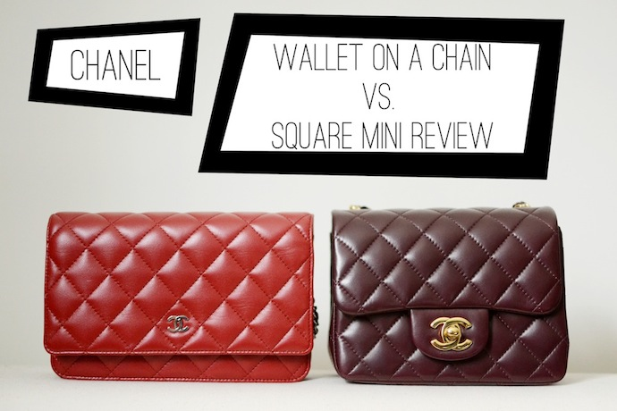 Chanel handbag comparison review Chanel wallet on a chain vs. Chanel mini
