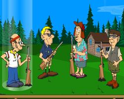 لعبة صيد الفراخ بالبندقية