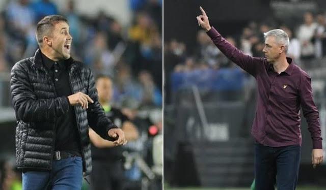 Coudet (esq) deve assumir o Inter em 2020 (Montagem sobre fotos de divulgação)