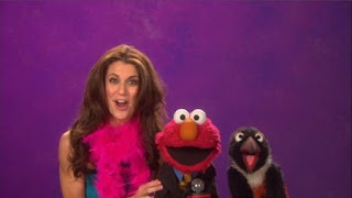 Samantha Harris talks about Reporter with Elmo. Reporter is the word on the street. Sesame Street Episode 4320 Fairy Tale Science Fair season 43