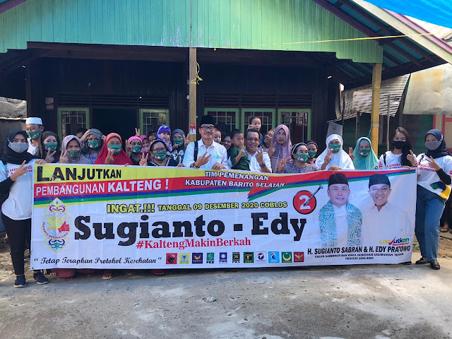 Tim Bintang 9 Ajak Warga Desa Babai Menggunakan Hak Pilih Pilkada Gubernur dan Wakil Gubernur Kalteng