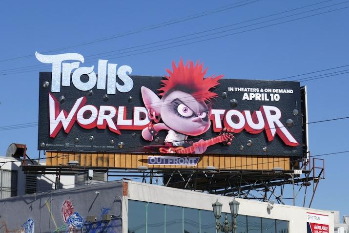 Trolls World Tour 3D film billboard