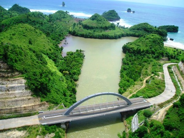Marine Nature Tourism Malang Goa Cina Beach