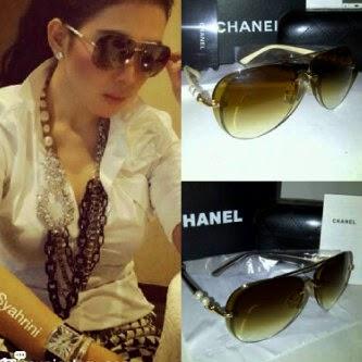 Model kacamata cantik chanel untuk wanita branded murah