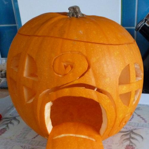 pumpkin carving magical hobbit home fairy elf