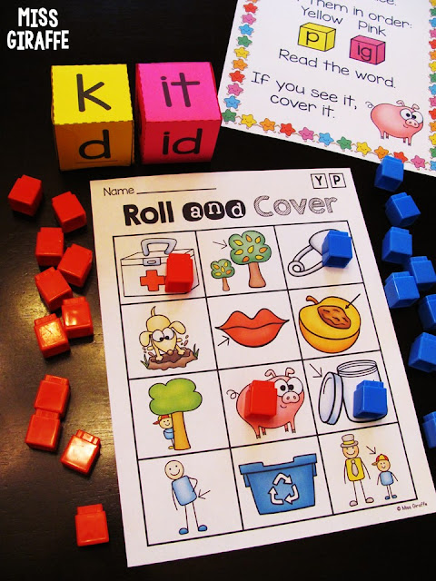 Short i word families games