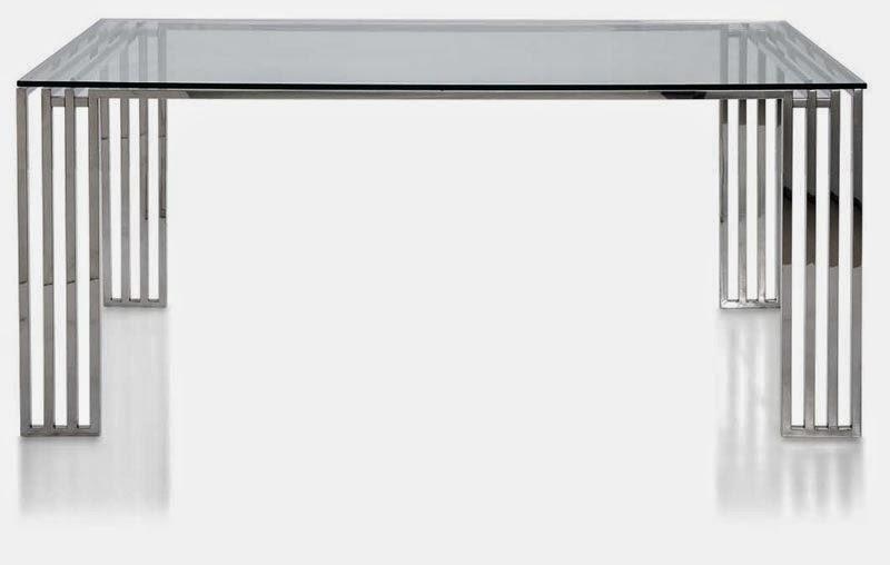 mesa de comedor en acero inoxidable