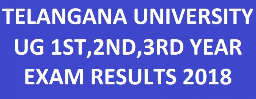 Telangana University Degree 1st, 2nd, 3rd Year Results