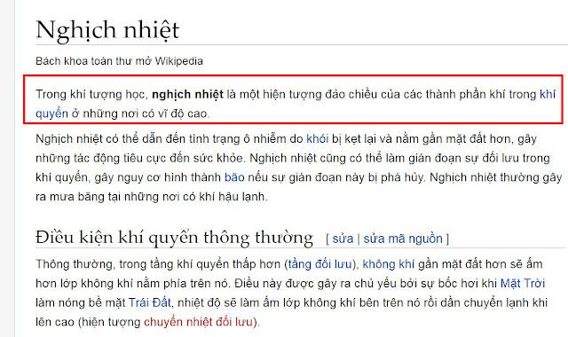 wikipedia mô tả về hiện tượng nghịch nhiệt không rõ ràng