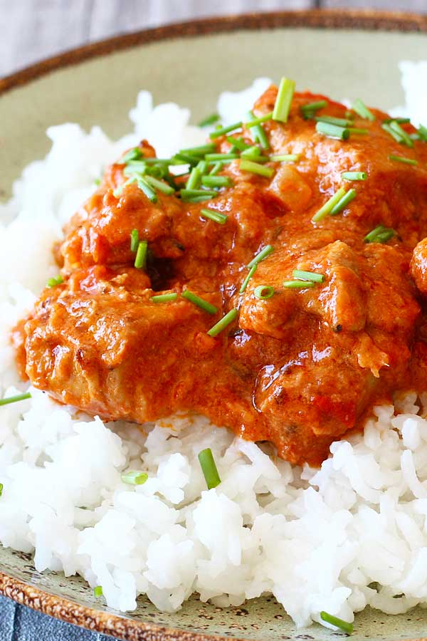 Easy and healthy butter chicken