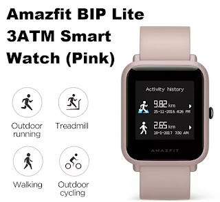 Amazfit BIP Lite 3ATM Smart Watch (Pink) Price in India   Smartwatch Price.in