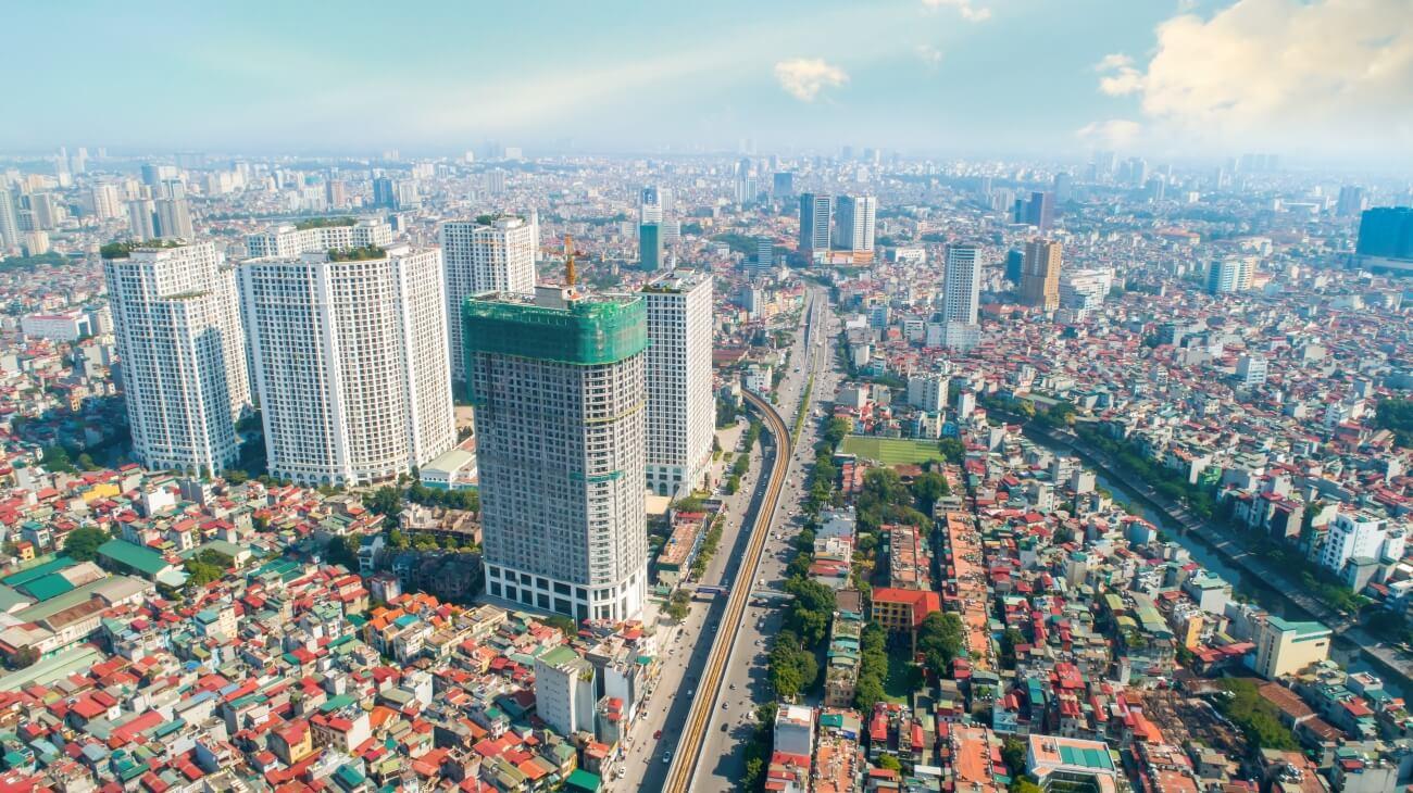 Tiến độ xây dựng dự án King Palace tháng 1/2020