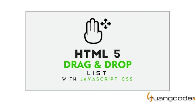 HTML Drag and Drop List dengan JavaScript | Draggable List With Add Items