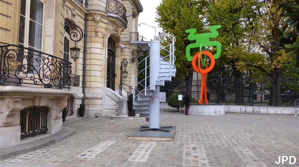 Paris bise art escalier de la tour eiffel - Escalier de la tour eiffel ...