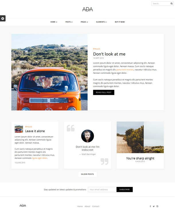 Personal Blog Bootstrap Template
