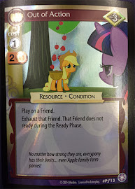 My Little Pony Out of Action The Crystal Games CCG Card