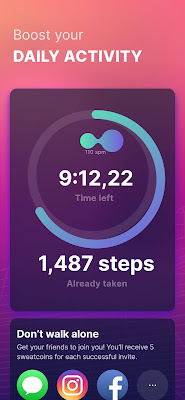 تحميل تطبيق المشي وربح المال تنزيل برنامج المشي Sweatcoin 2022