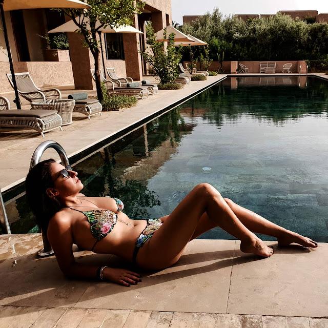 Marrakech, resort Fairmont Royal Palm. Alessia Siena al sole
