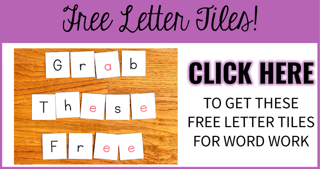 Free Letter Tiles for Word Work Activities