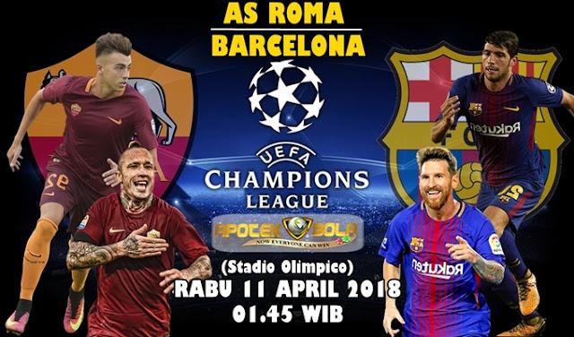 Prediksi AS Roma vs Barcelona 11 April 2018