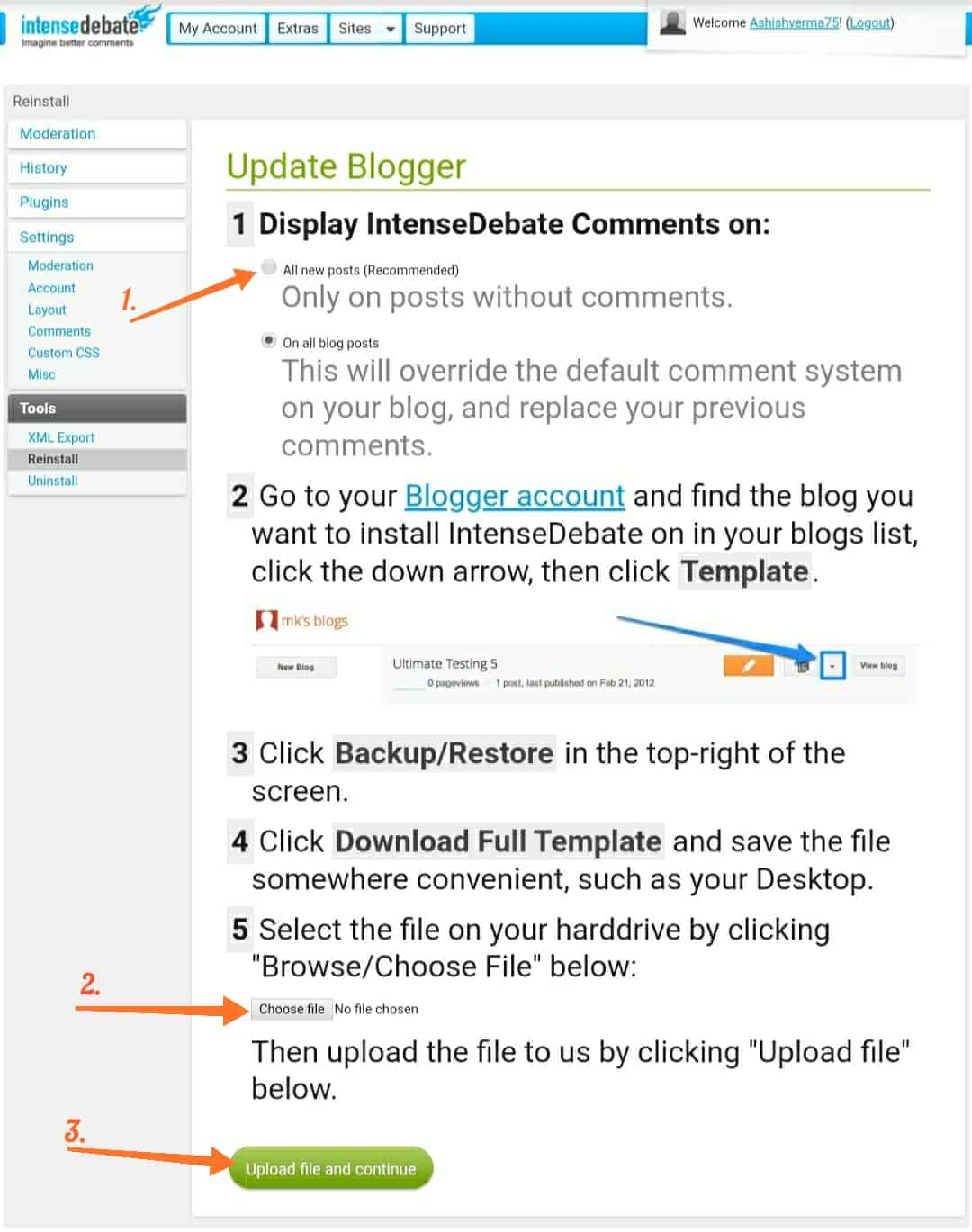 Blogspot professional comment box