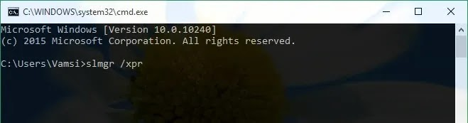 check-win10-activation-enter-command