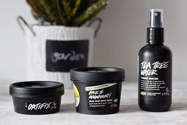 LUSH COSMETICS - MASK OF MAGNAMINTY, OATFIX, TEA TREE WATER - RECENZJA