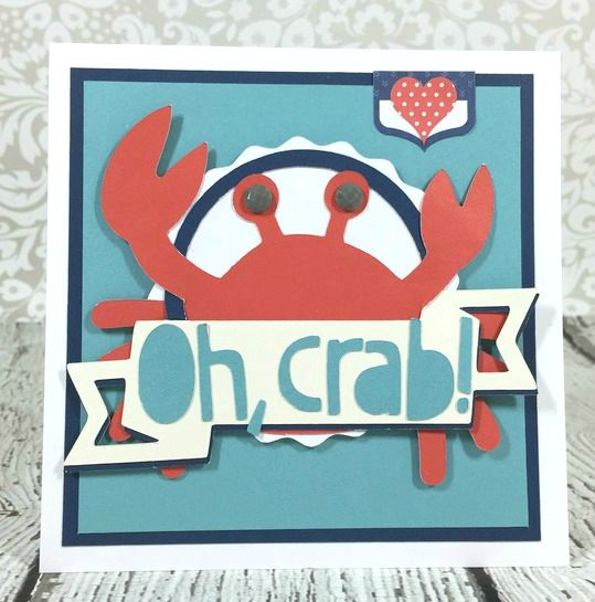 Cricut Artistry Oh, Crab! card