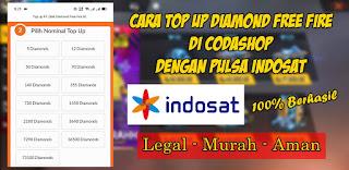 Cara Top Up Diamond Free Fire Di Codashop Pakai Pulsa Indosat