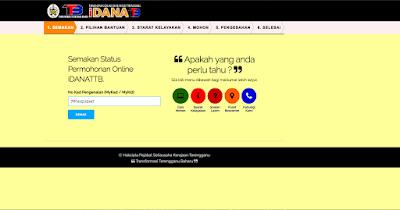Permohonan Dana Terengganu iDANATTB 2019 Online