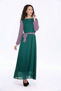 dress muslimah untuk pre-wedding