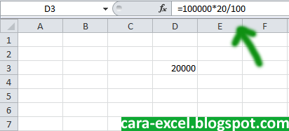 Cara Menghitung Persen Excel
