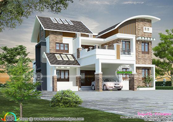 All style mix roof contemporary house