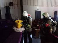 17 августа 2021 года в городе Сухой Лог прошли пожарно-тактические учения на объект с массовым пребыванием людей – дворец культуры «Кристалл»