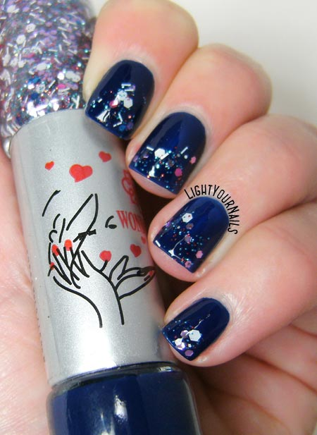 Bornpretty double ended nail polish no. 16 for glitter gradient